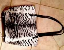 Large Zebra Designer Tote/Purse/Shopper With Lots Of Pockets