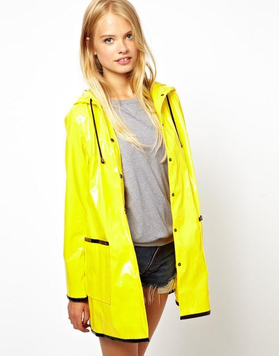 Yellow PVC Rain Jacket | pvc | Pinterest | Jackets Yellow and