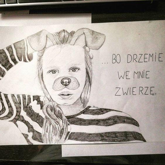 DAY 155 Inspired by @bbrzydki_insta #sketchbook #sketch #sketching #sketchoftheday #drawing #draw #drawart #instadraw #drawallyearchallenge #olsikowadrawallyear #art #artoftheday #artist #artwork #illustration #poland #pencildrawing #pencil #young_artists_help #paper #painting #portrait #snap #dog #animal #stripes #fashion #eye #eyes #hair