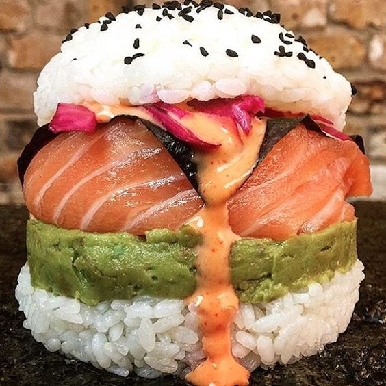 Homemade Sushi Burgers Are Taking The Internet By Storm