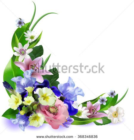 Composition of the delicious spring flowers for design of postcards, brochures, banners, flyers, vector illustration - stock vector