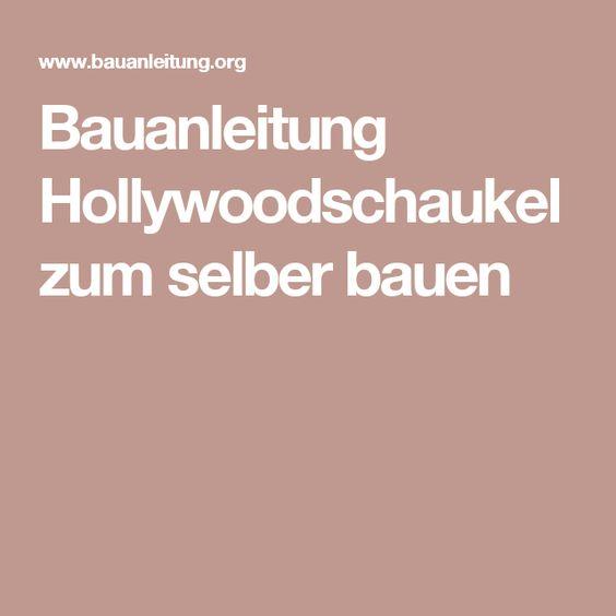 2017 Hollywoodschaukel Bauanleitung