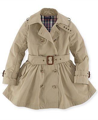 Polo Ralph Lauren Little Girls&39 Trench Coat - Kids Toddler Girls