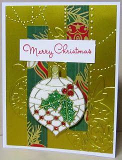 I SPI: Glittered Holly Ornament