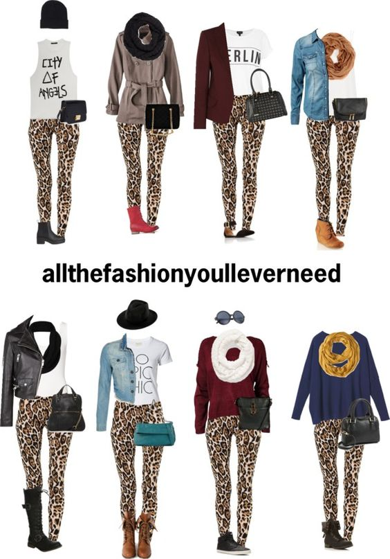 Outfits with cheetah print leggings