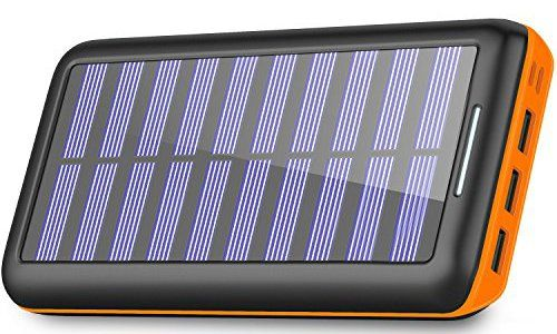 Solar Charger 24000mah Portable Charger Plochy Solar Power Bank Phone Charger With 3 Fast Charging Usb Port And Dual Input Lightning Micro External Battery P Solar Usb Charger Solar Charger Solar Power
