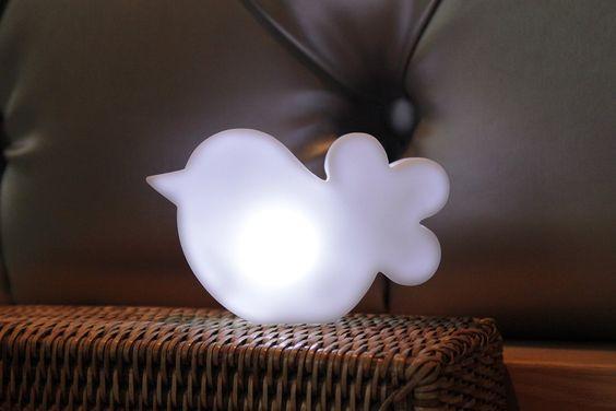 Oiseau lumineux micro à poser LED déco