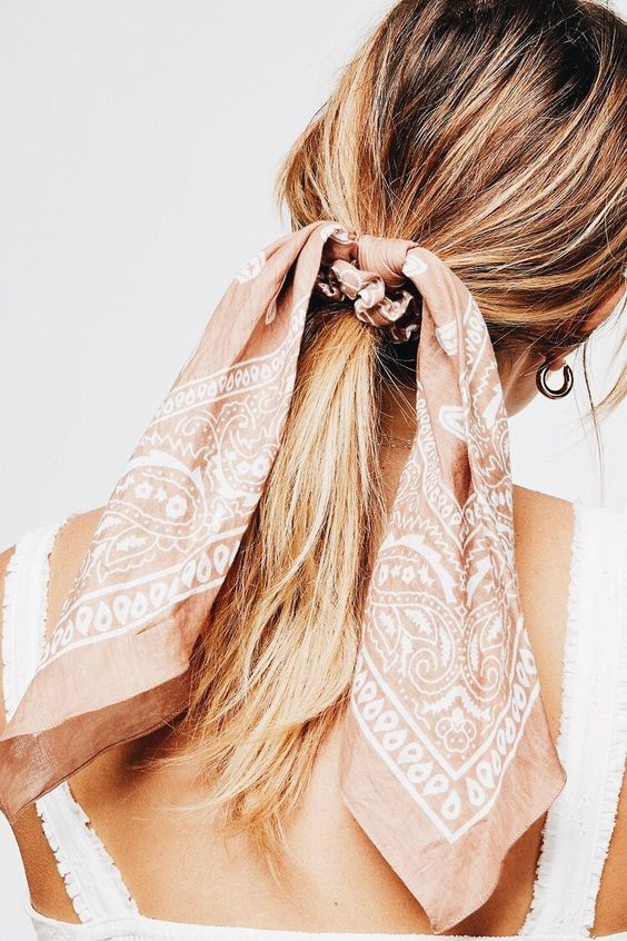 Ponytail with scarf