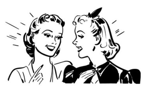 Girls Talking Clip Art