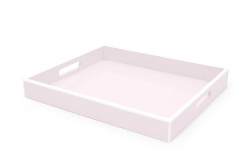 Elle Lacquer Serving Tray Soft Pink