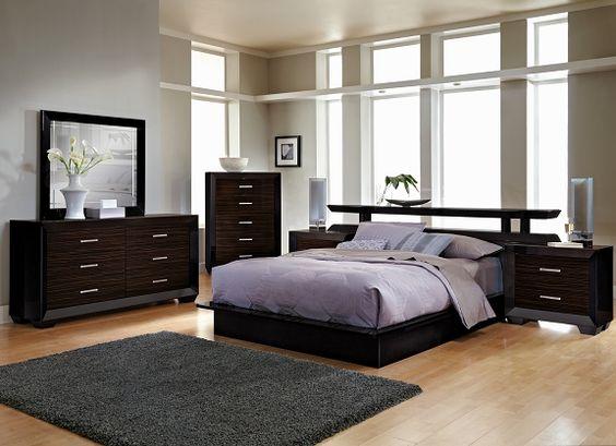 Serenity Bedroom Collection - Value City Furniture-Queen Platform Bed with Nightstands $1100 - Serenity Bedroom Collection - Value City Furniture-Queen Platform