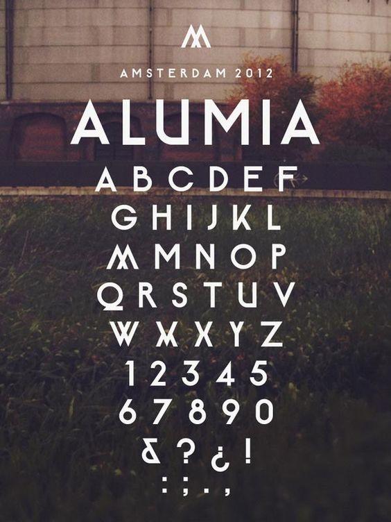 Alumia Typeface D... - Bloglovin