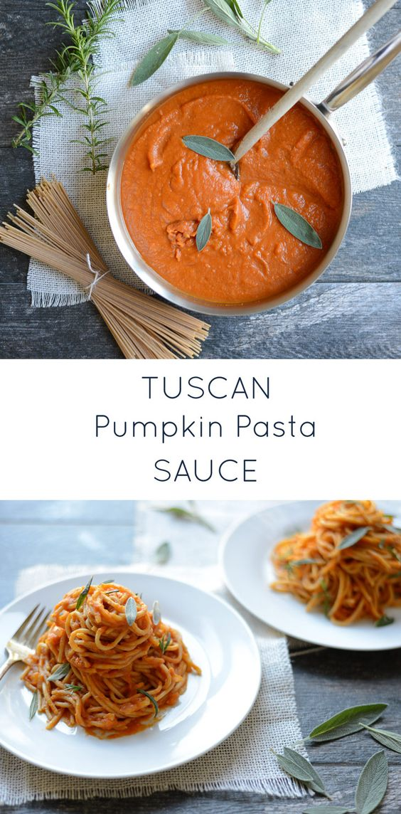 Simple and elegant, Tuscan Pumpkin Pasta Sauce is easy to make with pantry ingredients. It feel indulgent, yet is packed with veggies and it naturally creamy without a trace of dairy. Perfect for a cool autumn evening or any night of the week.