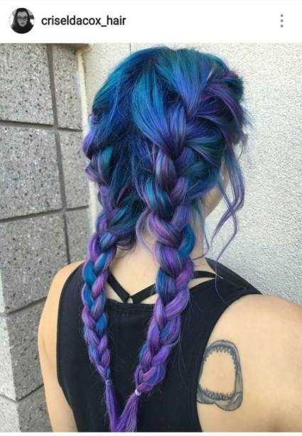 Hair Purple Blue Colour 40 Ideas Hair Styles Dyed Hair Blue Purple Hair