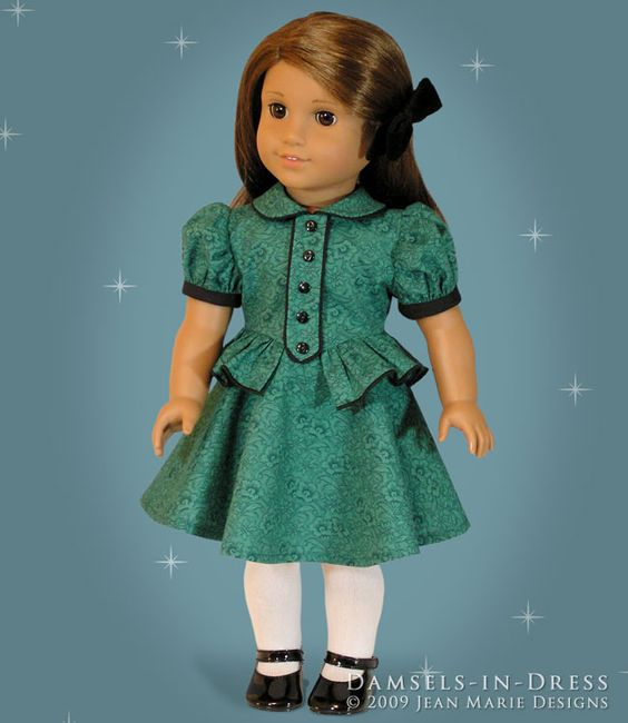Dress for Molly. BODICE OVERLAY AND PEPLUM: