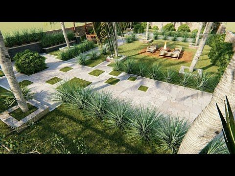 Backyard Design Of Residential House Model In Sketchup Render In Lumion Youtube Landscape Architecture Design Landscape Design Landscape Design Services