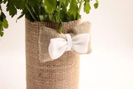 Décoration de table, pot multi-usage pour donner une touche naturelle et romantique à votre table de mariage. Réalisé avec soin pour illuminer votre jour J (et pour durer aprè - 17701075