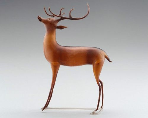 Glass reindeer, made in France in the 18th century
