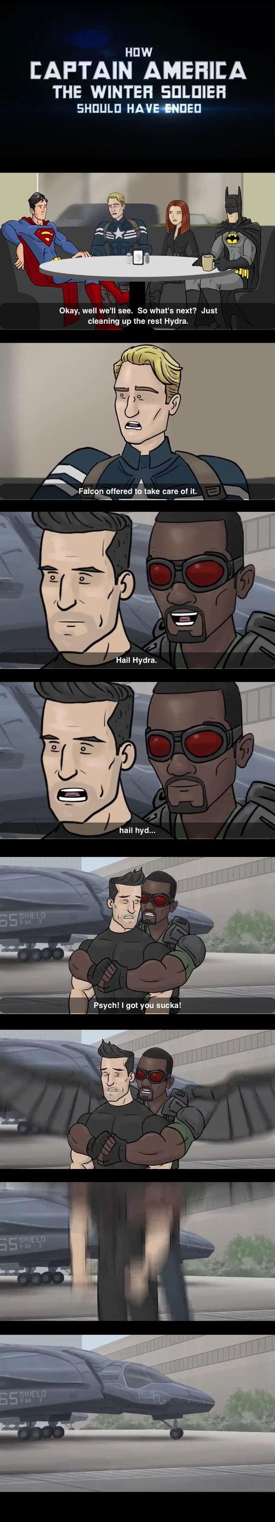 How CA:TWS should have ended - watch the real thing, it's so funny!! XD XD