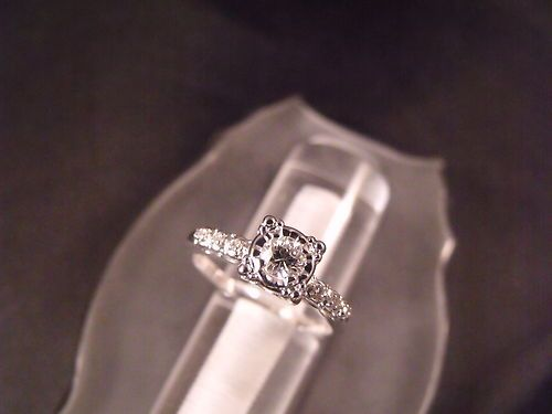 1940's Vintage Antique 14 KT Gold Old European Cut Diamond Ring Jewelry