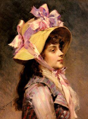 Raimundo de Madrazo y Garreta (1841-1920) retrato de una dama con cinta rosa