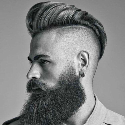 Pompadour with Beard