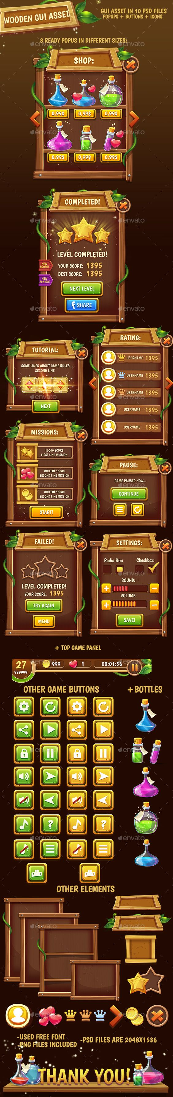 Fantasy Wooded Game Interface