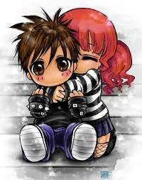 cute anime couples chibi - Buscar con Google
