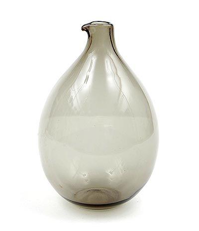 Grey glass Bird-bottle design Timo Sarpaneva 1956 executed by Iittala / Finland