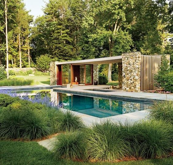 Contemporary Connecticut Poolhouse by SPaN Architects  Connecticut