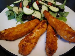 Spicy Pork-Rind-Breaded Chicken Fingers