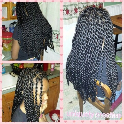 Crochet Braids Queue De Cheval : Vanilles sEnEgalaises / senegalese twists (avec rajouts) Hair ...