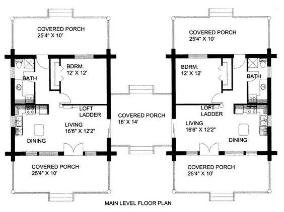 Dogtrot house plans house plans with breezeway and in law for Dogtrot home plans