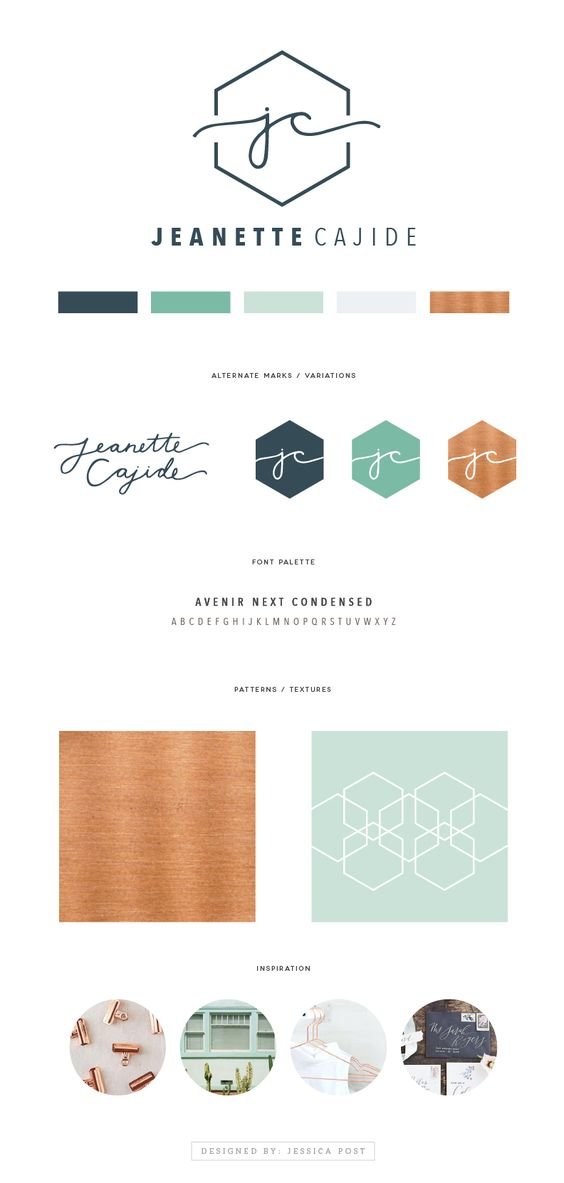initials copper and logo design on pinterest