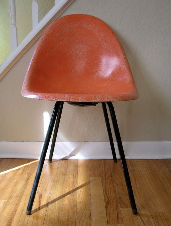 Eames/Herman Miller Era Fiberglass Chair by GraceWillVintage, $125.00