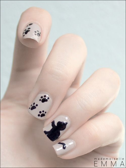 40 Kitty Cat Nail Designs | Manicures | Pinterest | Aristocats, Cat nails  and Cat nail designs - MEOW! 40 Kitty Cat Nail Designs Manicures Pinterest