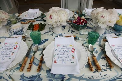 Aerin Lauder's table ....from Habitually Chic