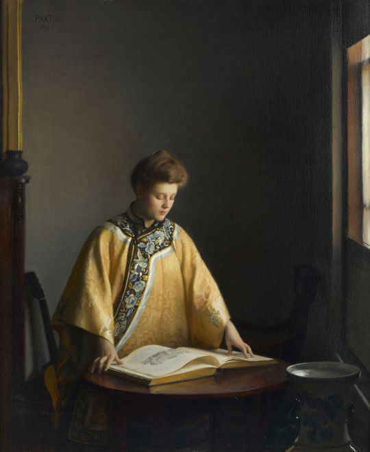 William MacGregor Paxton - The yellow jacket - 1907