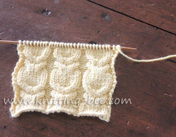 Visually stunning Branch Cable Stitch knitting pattern. Abbreviations: k = kn...