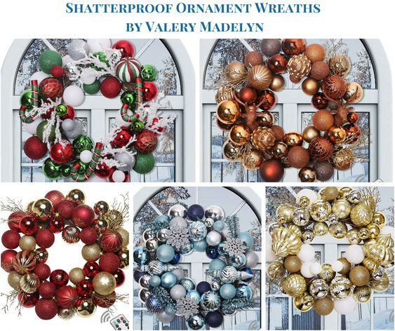 Shatterproof Ornament Wreaths by Valery Madelyn