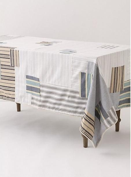 Patchwork anthropology tablecloth...would be gorgeous as a shower curtain!