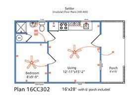16x28 Zook Cabin Floor Plan Mountain Bunkies Pinterest