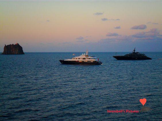 Ships moored in #Stromboli.