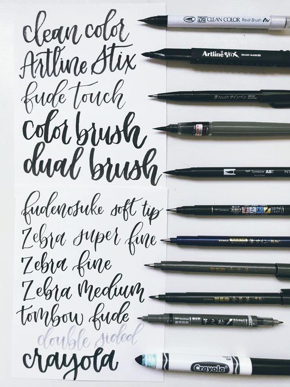 My Favorite Brush Pens for Beginners – Lyss Tyler Letters