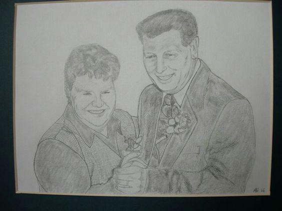 Portret potlood schets