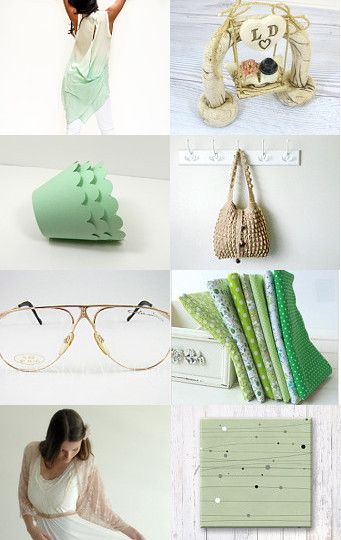 Mint and beige by Hili on Etsy--Pinned with TreasuryPin.com