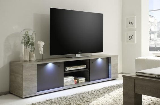 Sidney Collection Large TV Unit with LED Spotlights TV \ media - led spots wohnzimmer