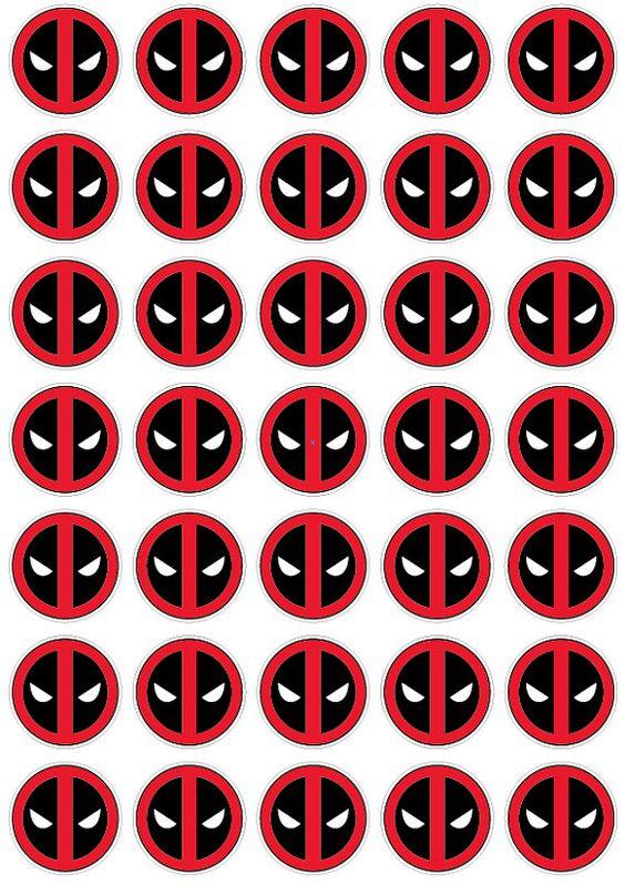Logo Sticker Decal Wall Decal Birthday Party Wallpaper Etsy Deadpool Logo Deadpool Stickers Deadpool Logo Wallpaper