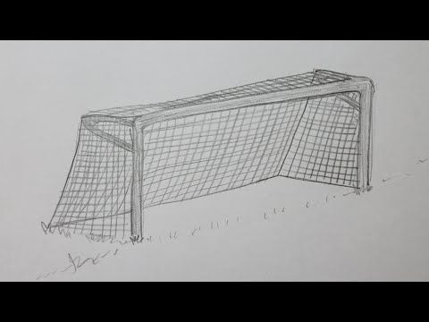 How To Draw A Soccer Goal Youtube Soccer Goal Soccer Drawing Soccer