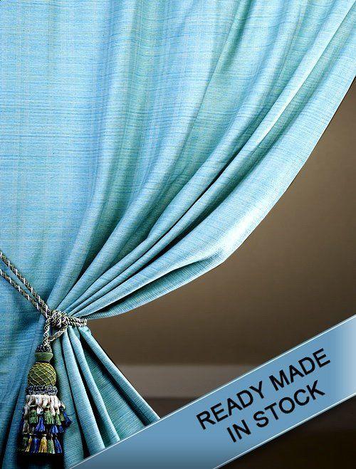 Beach House Raw Beach Themed Bedroom Curtains Silk Curtains